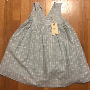 Boy + girl Frankie dress, blue daisy, 6y